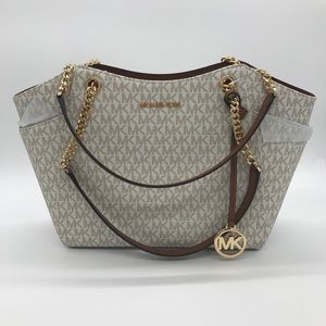 Michael Kors Chain Shoulder Tote Bag